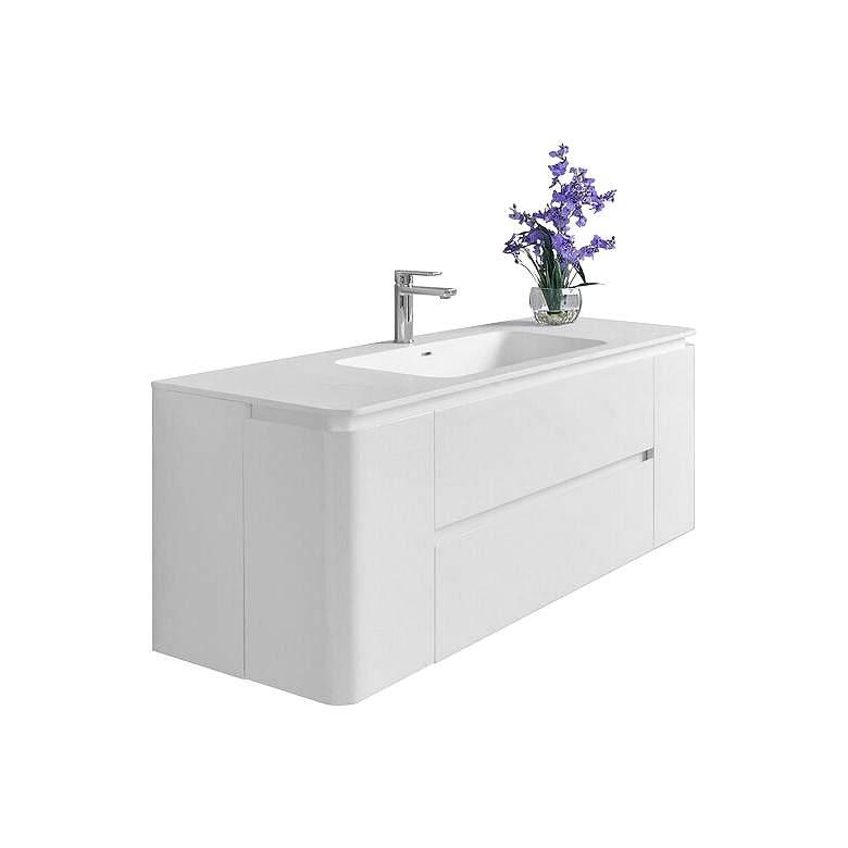 "Gwyneth 55"" White 2-Drawer Single Sink Vanity Set"