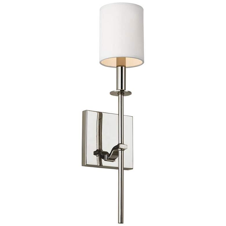 "Feiss Hewitt 19 1/2"" High Polished Nickel Wall Sconce"