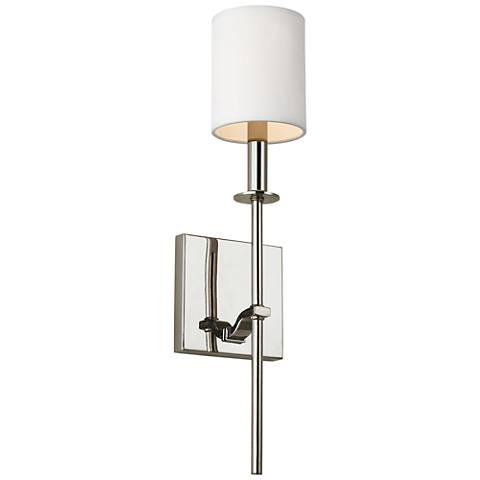 """Feiss Hewitt 19 1/2"""" High Polished Nickel Wall Sconce"""