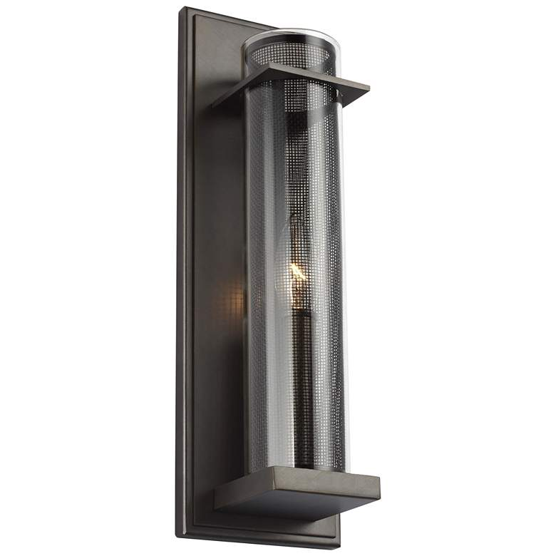 """Feiss Silo 15"""" High Antique Bronze Wall Sconce"""
