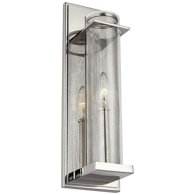"Feiss Silo 15"" High Polished Nickel Wall Sconce"