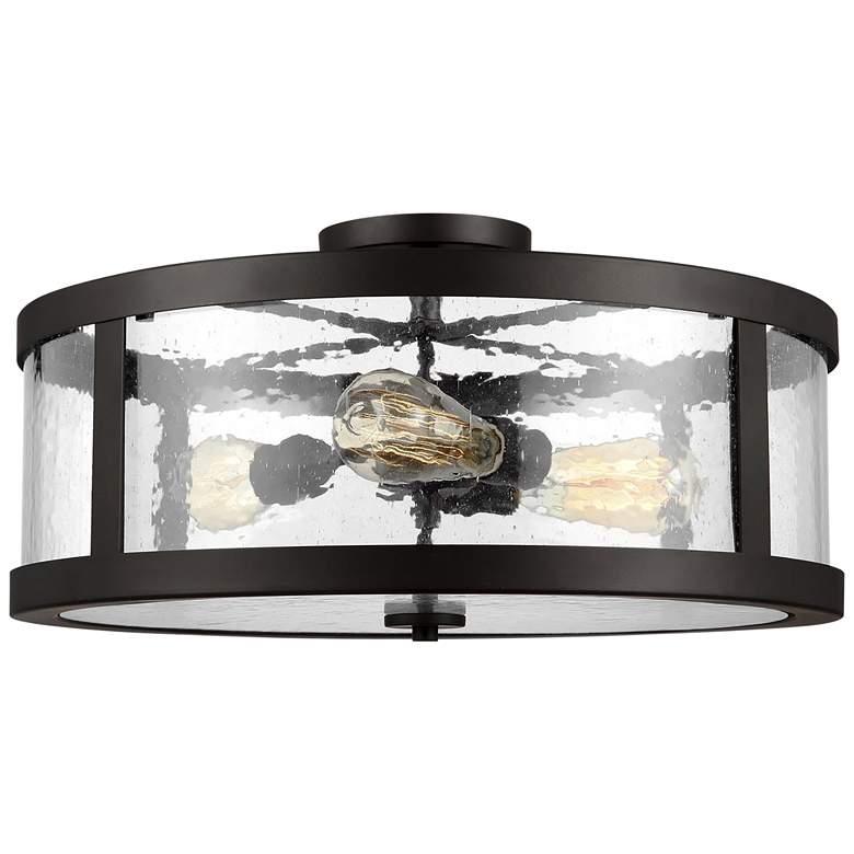 "Harrow 19 3/4"" Wide Oil Rubbed Bronze 3-Light Ceiling Light"
