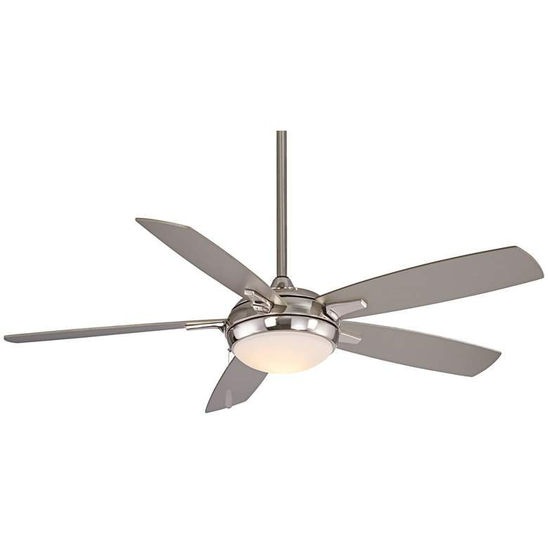 """54"""" Minka Aire Lun-Aire Brushed Nickel LED Ceiling Fan"""
