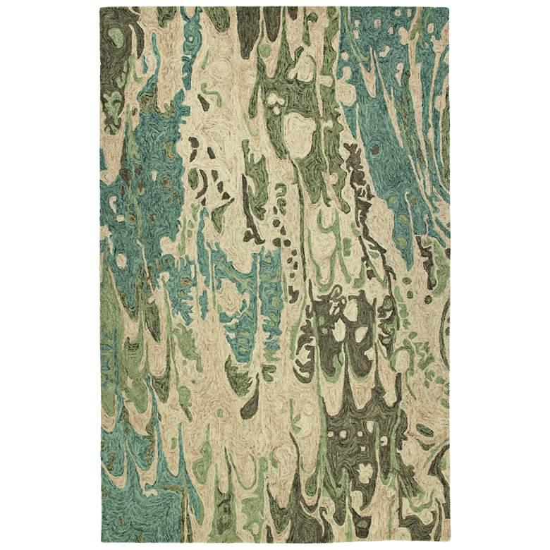 Kaleen Marble MBL05-50 Green Wool Area Rug
