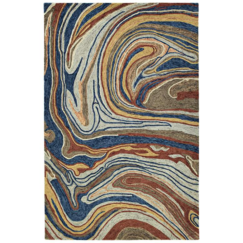 "Kaleen Marble MBL06-86 5'x7'9"" Multi-Color Wool Area Rug"