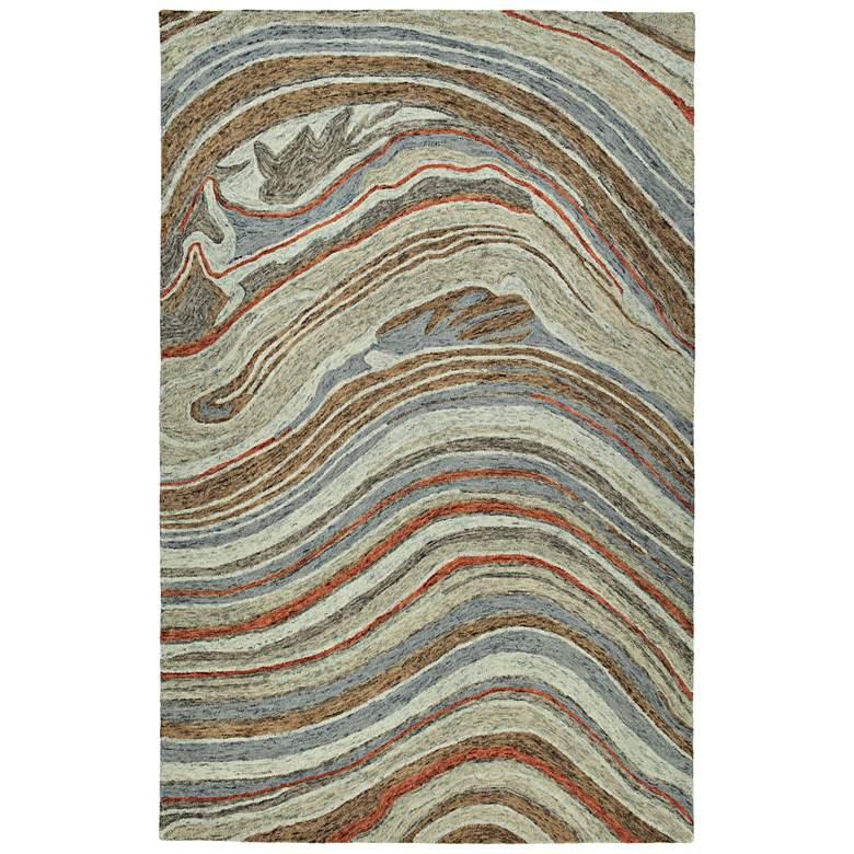 "Kaleen Marble MBL07-75 5'x7'9"" Gray Wool Area Rug"