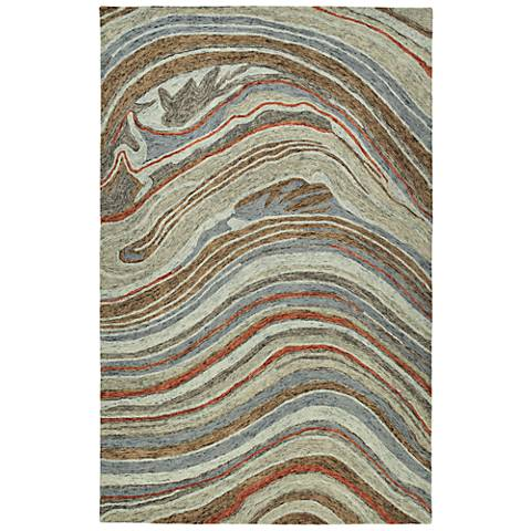 Kaleen Marble MBL07-75 Gray Wool Area Rug