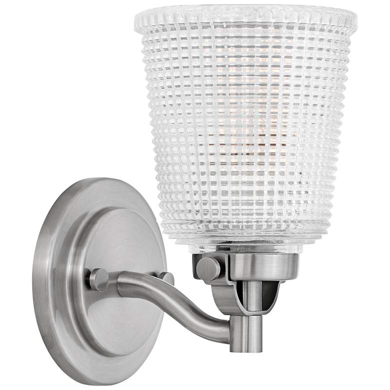 """Bennett 9"""" High Polished Antique Nickel Wall Sconce"""