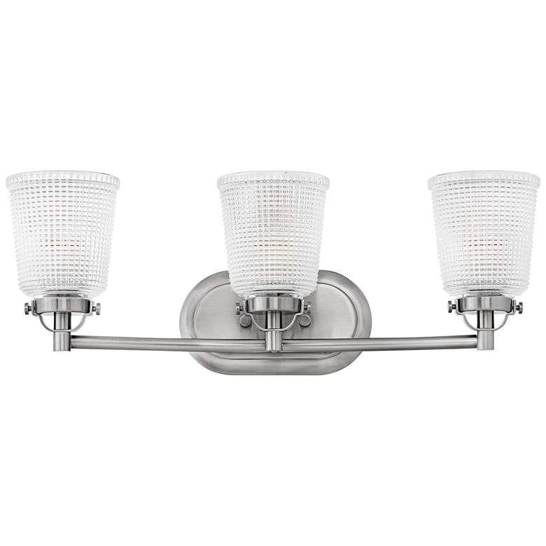 "Bennett 24 1/4""W Polished Antique Nickel 3-Light Bath"