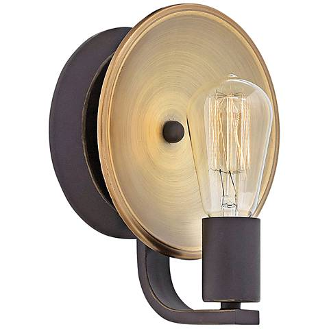 """Hinkley Boyer 9"""" High Oil Rubbed Bronze Wall Sconce"""