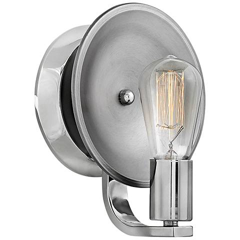 "Hinkley Boyer 9"" High Polished Nickel Wall Sconce"
