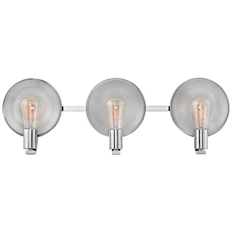 "Hinkley Boyer 26 3/4""W Polished Nickel 3-Light Bath Light"