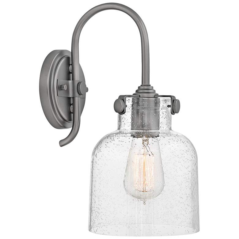"""Hinkley Congress 13 1/4"""" High Antique Nickel Wall Sconce"""