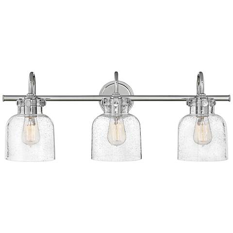 "Hinkley Congress 29 1/2"" Wide Chrome 3-Light Bath Light"