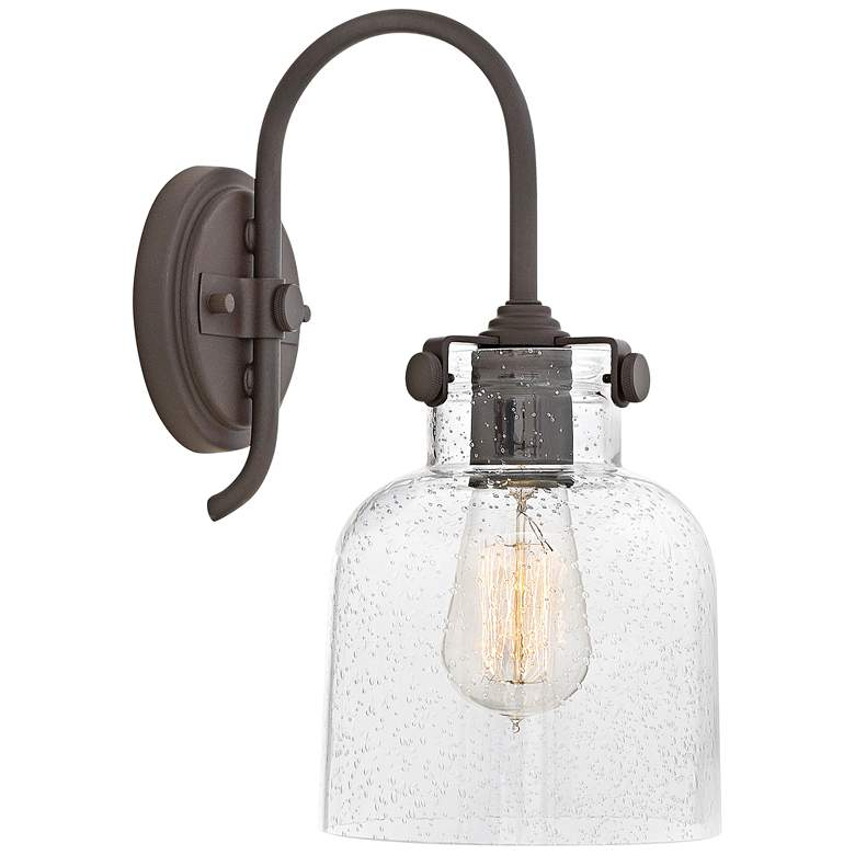 """Hinkley Congress 13 1/4"""" High Oil Rubbed Bronze Wall Sconce"""