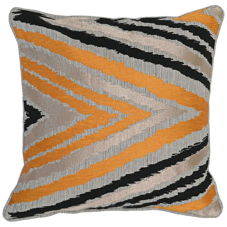 """Lenny Multi-Color 18"""" Square Decorative Pillow"""