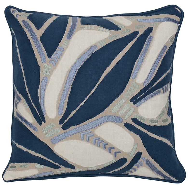 """Lilo Multi-Color Dark Marine 18"""" Square Decorative Pillow"""