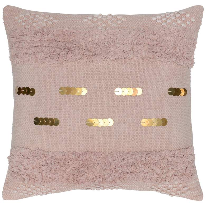 "Seine Blush 22"" Square Decorative Pillow"