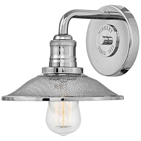 """Hinkley Rigby 8 3/4"""" High Polished Nickel Wall Sconce"""