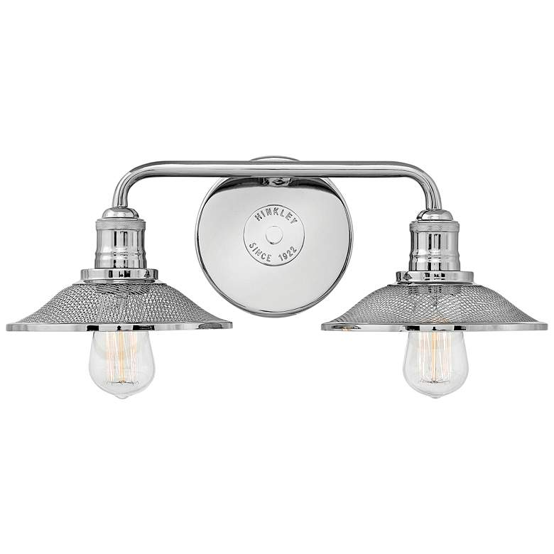 "Hinkley Rigby 8 3/4""H Polished Nickel 2-Light Wall Sconce"
