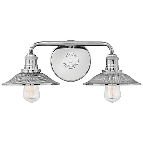 """Hinkley Rigby 8 3/4""""H Polished Nickel 2-Light Wall Sconce"""