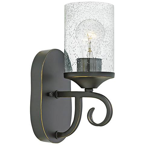 "Hinkley Casa 11 1/4"" High Olde Black Wall Sconce"