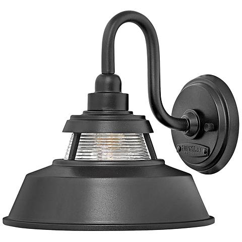 "Hinkley Troyer 10"" High Black Outdoor Wall Light"