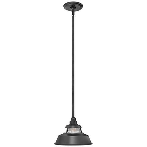 "Hinkley Troyer 7 1/2"" High Black Outdoor Hanging Light"