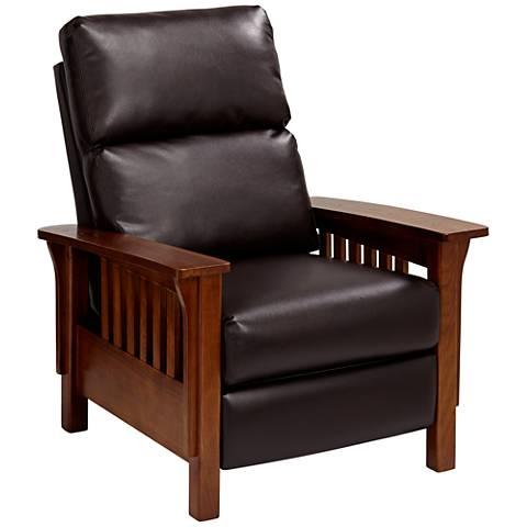 Evan Augusta Java Brown 3-Way Recliner Chair