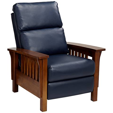 Evan Augusta Royal Blue 3-Way Recliner Chair