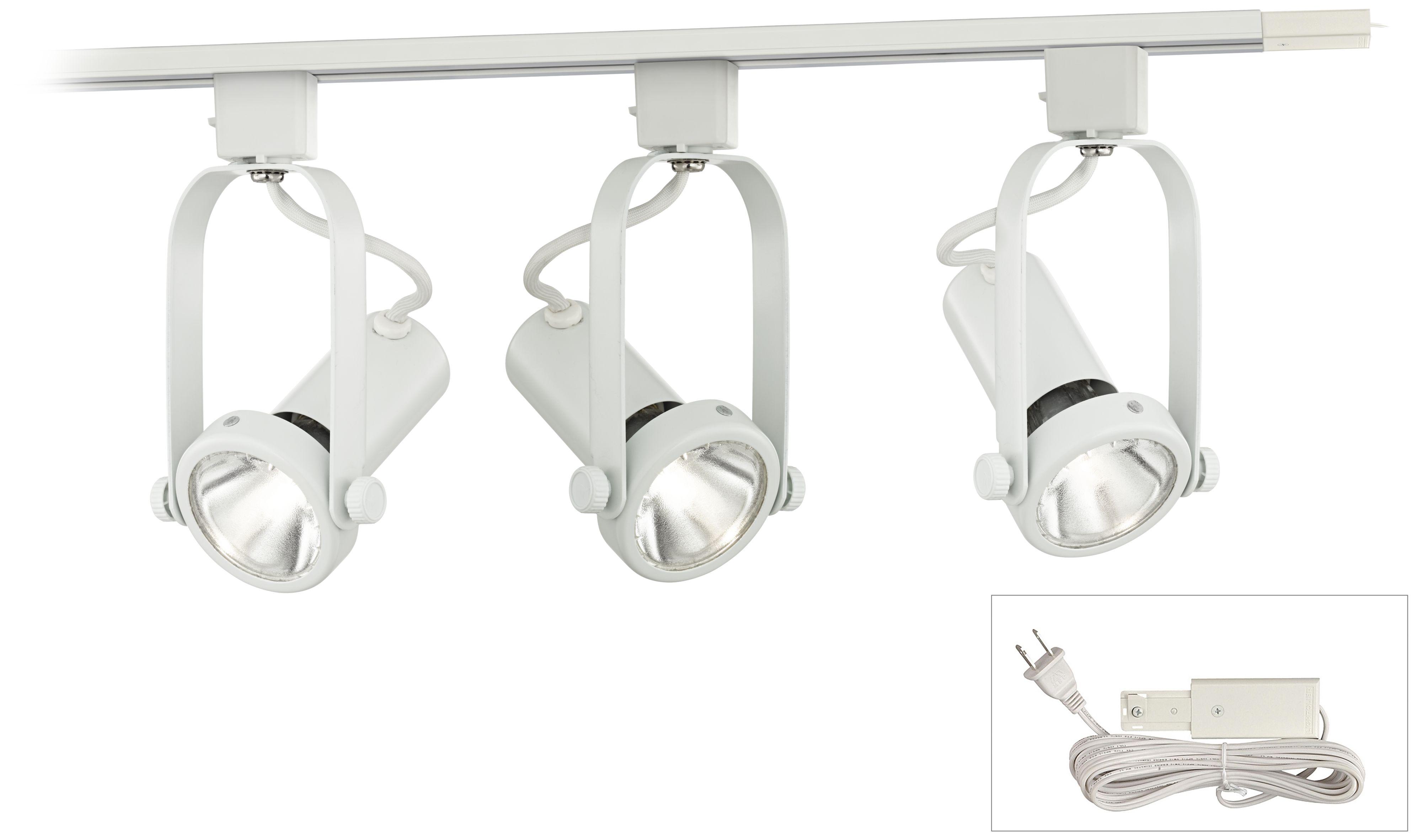 Lightolier Par Bulb 3-Light White Plug-In Linear Track Kit  sc 1 st  L&s Plus & 4 Foot Plug-In Track Lighting | Lamps Plus