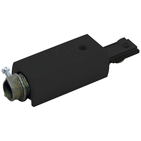 Lightolier Surface Conduit Feed Connector in Black