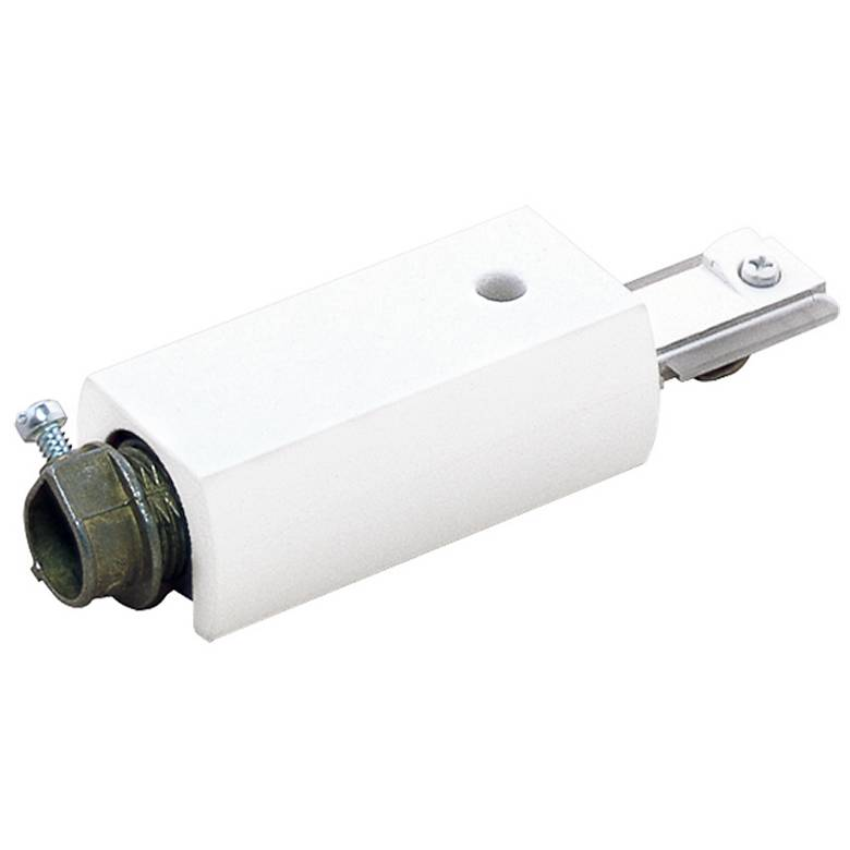 Lightolier Surface Conduit Feed Connector in White