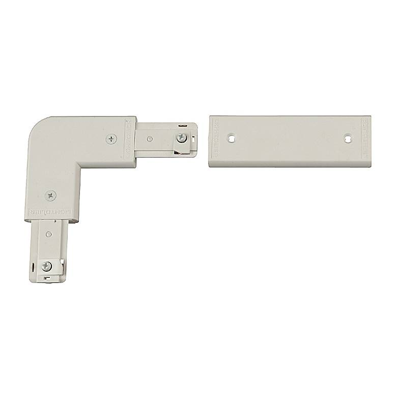 Lightolier White Combination L or In-Line Connector
