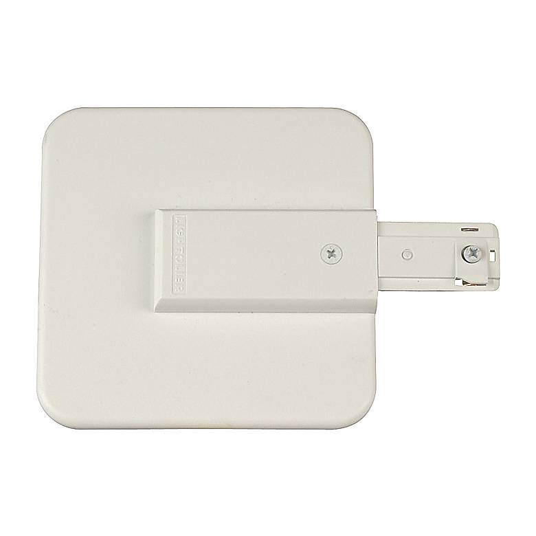 Lightolier Live End Canopy Feed in White