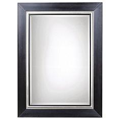 """Uttermost Whitmore Black Silver Leaf 40"""" x 54"""" Large Mirror"""