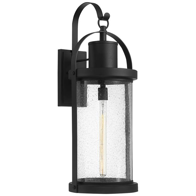 """Roundhouse 31 3/4"""" High Black Outdoor Wall Light"""