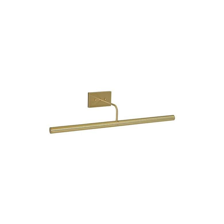"Slim-Line 24"" Wide Satin Brass Direct Wire Picture Light"