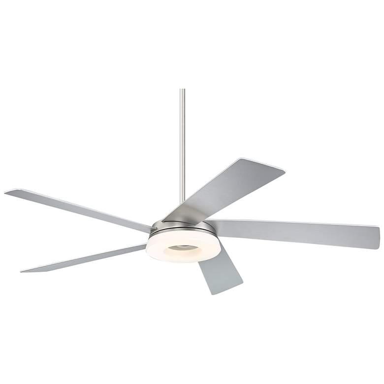 "56"" Retina 360 Brushed Nickel LED Ceiling Fan"