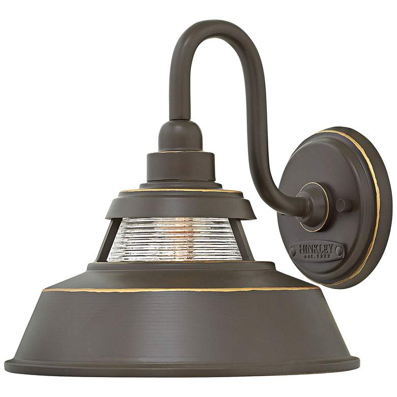 """Hinkley Troyer 10"""" High Oil Rubbed Bronze Outdoor Wall Light"""