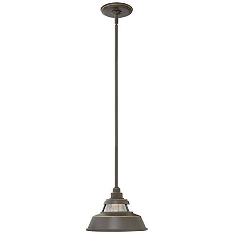 """Troyer 7 1/2"""" High Oil Rubbed Bronze Outdoor Hanging Light"""