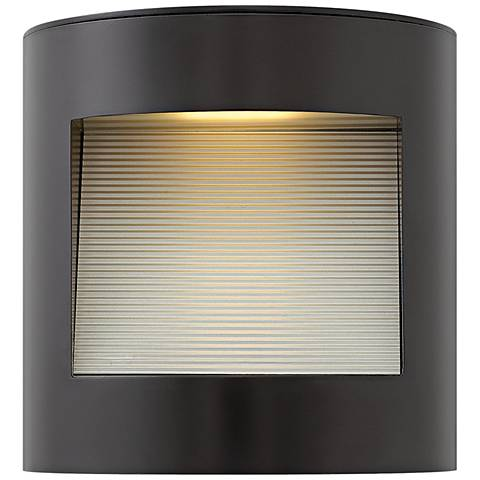 "Hinkley Luna 9"" High Satin Black LED Outdoor Wall Light"