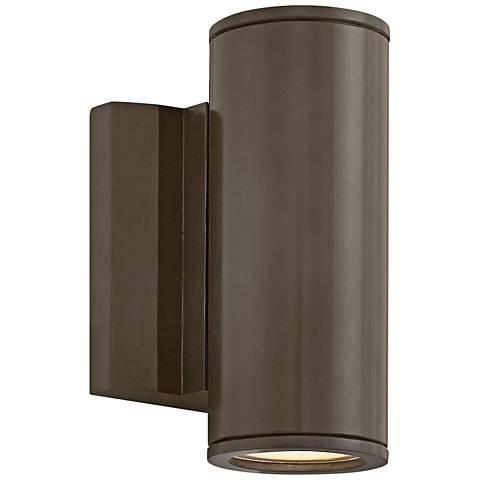 "Kore 7 1/2""H Bronze Round Dark Sky LED Outdoor Wall Light"