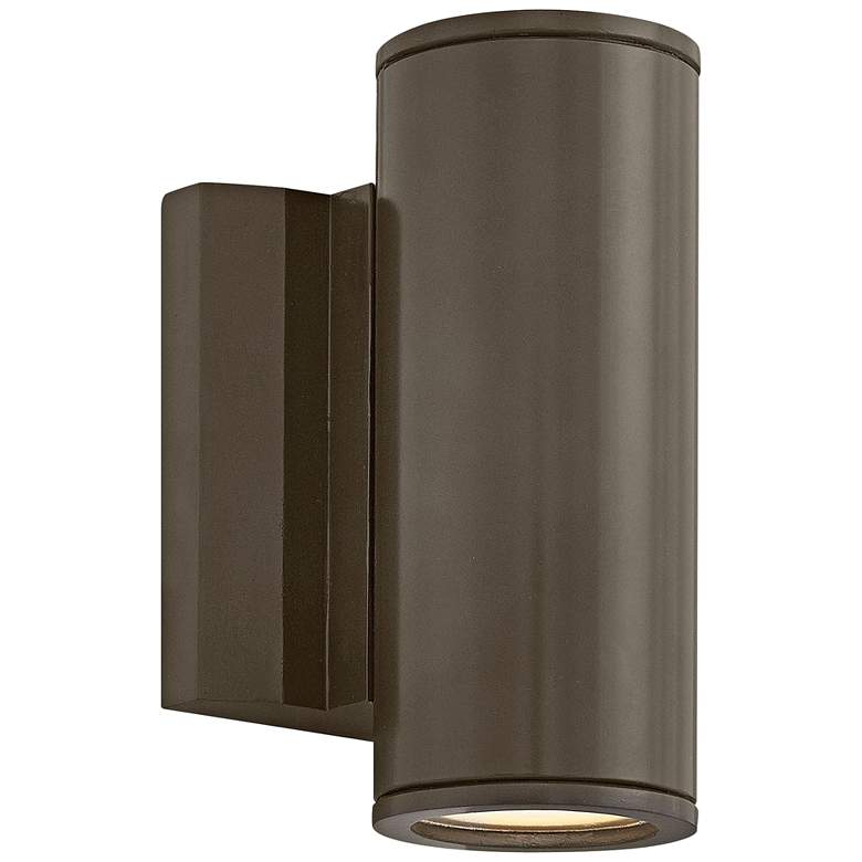 """Hinkley Kore 7 1/2"""" High Bronze Round LED Outdoor Wall Light"""