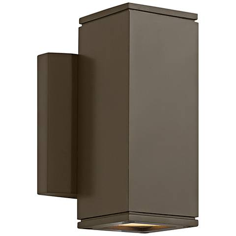 "Hinkley Kore 7 1/2""H Bronze Square LED Outdoor Wall Light"