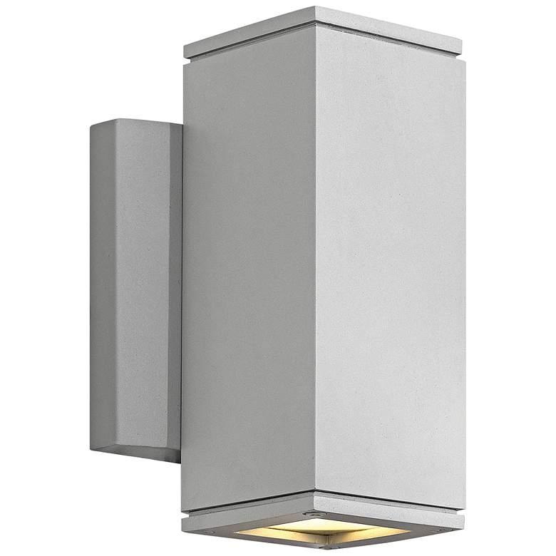"Kore 7 1/2""H Titanium Square Dark Sky LED Outdoor Wall Light"