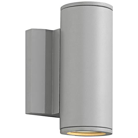 "Kore 7 1/2"" High Titanium Round LED Outdoor Wall Light"