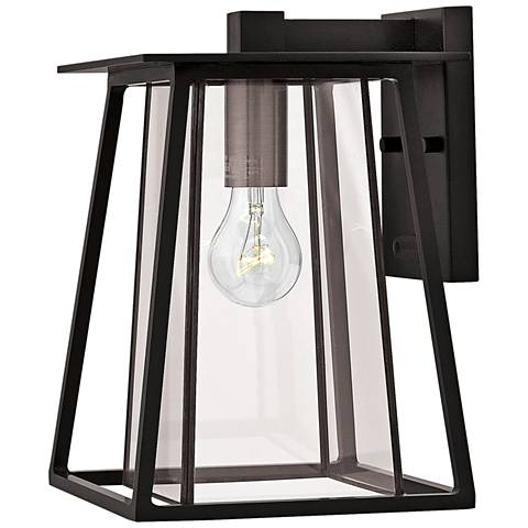 "Hinkley Walker 12 1/4"" High Black Outdoor Wall Light"