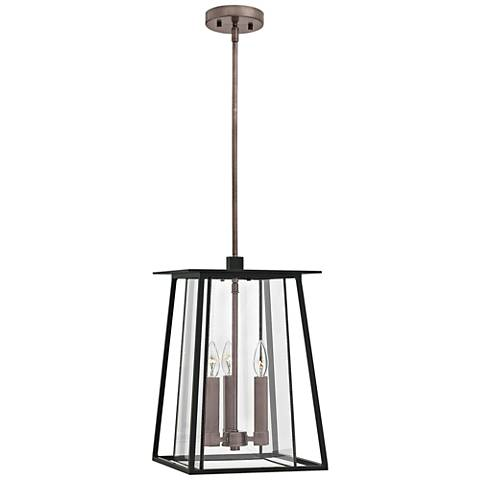 "Hinkley Walker 17 1/4"" High Black Outdoor Hanging Light"