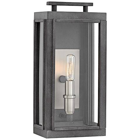 "Hinkley Sutcliffe 14"" High Aged Zinc Outdoor Wall Light"